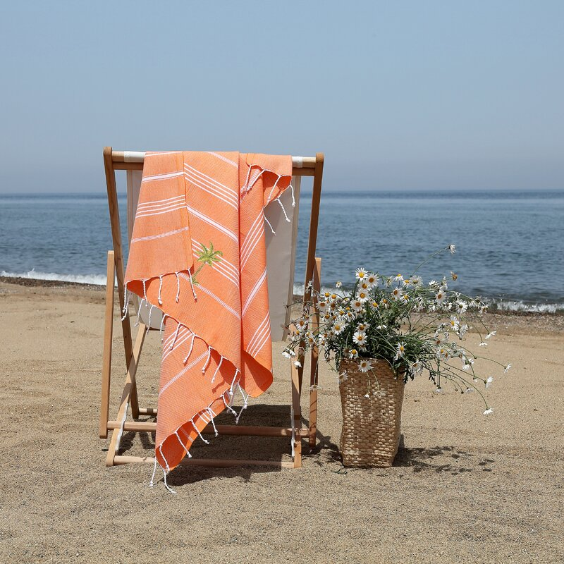 Prado Palm Tree Pestemal Beach Towel