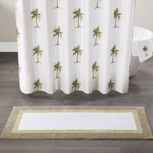Micheal Palm Cotton Tufted Bath Rug by Bayou Breeze