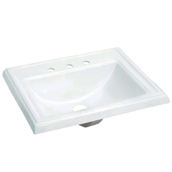 Concord Vitreous China Rectangular Drop-In Bathroom Sink with Overflow by Kingston Brass