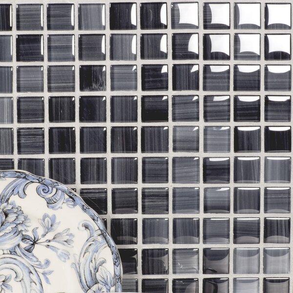 Handicraft II 0.75 x 0.75 Glass Mosaic Tile in Glazed Calligrahpy by Abolos