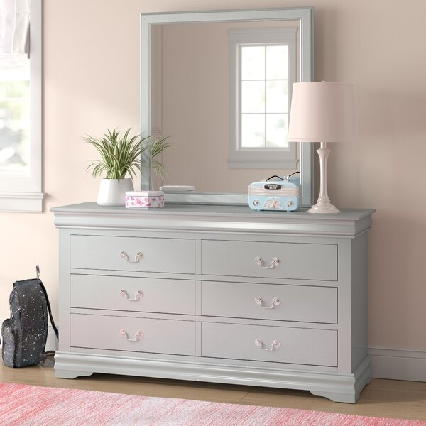 Sophia 6 Drawer Double Dresser with Mirror by Grovelane Teen