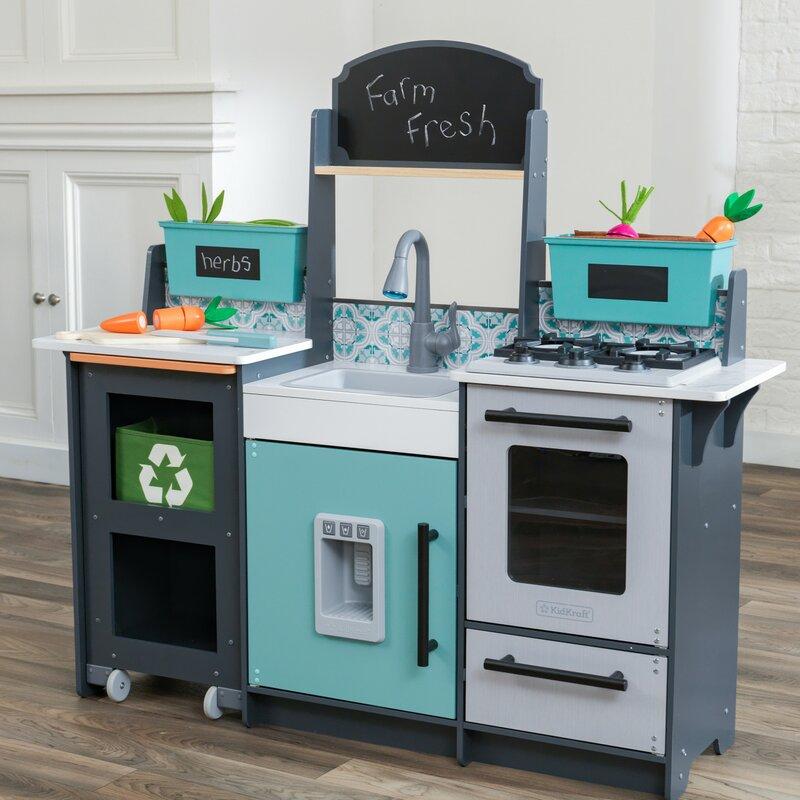 kidkraft garden gourmet play kitchen set & reviews | wayfair