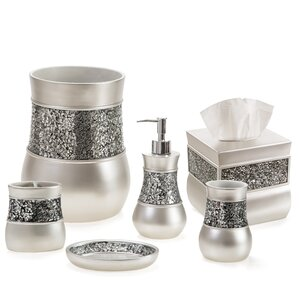 Keira Brushed Nickel 6 Piece Bathroom Accessory Set Resin Accessories You  Ll Love Wayfair Martinkeeis Me 100 Gray Images