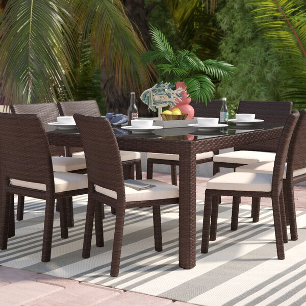 Finola 9 Piece Dining Set With Cushions By Beachcrest Home