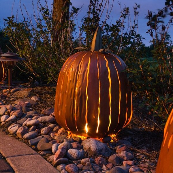 Tall Orange Pumpkin Luminary by Desert Steel