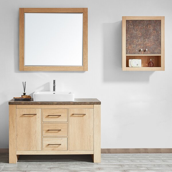 Kemp 48 Single Bathroom Vanity Set with Mirror by Union Rustic
