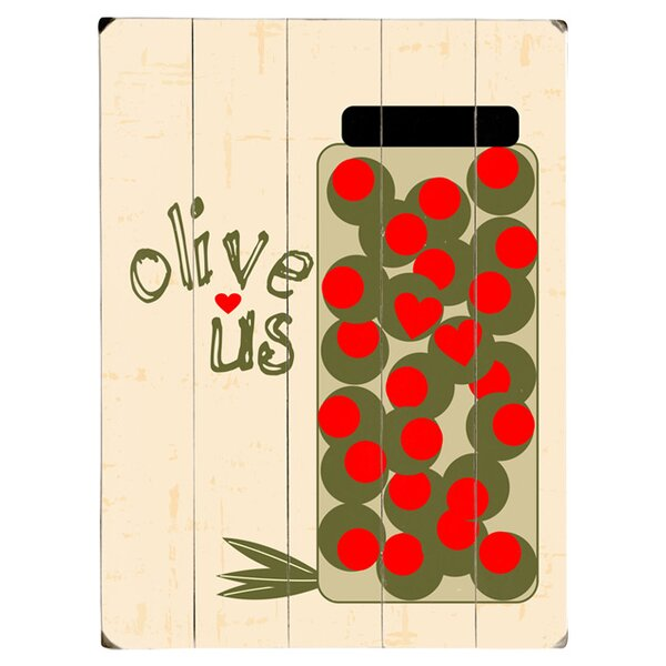 Olive Us Graphic Art Print Multi-Piece Image on Wood by Artehouse LLC