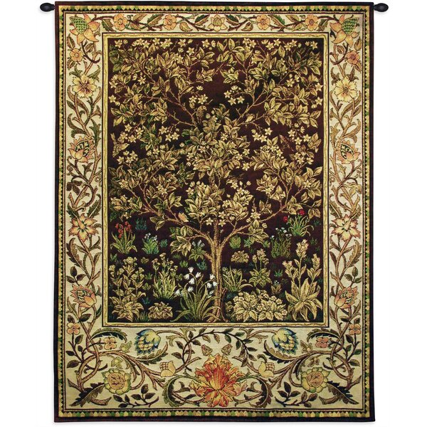 Tree of Life Umber BW Tapestry by Astoria Grand