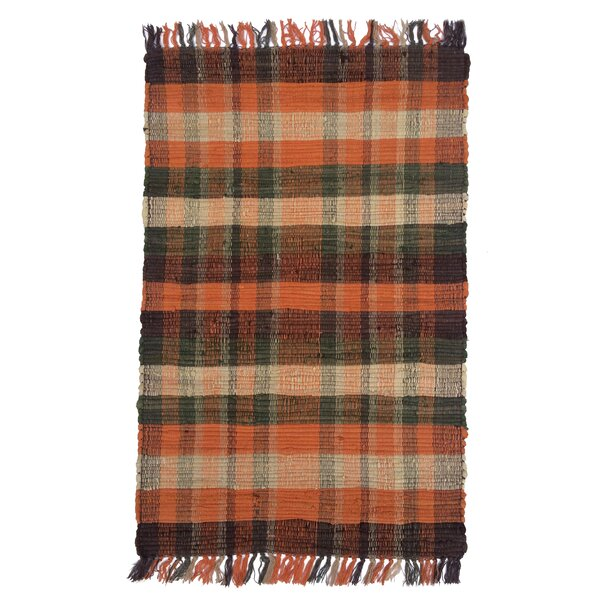 Veazey Tangerine Area Rug by Millwood Pines