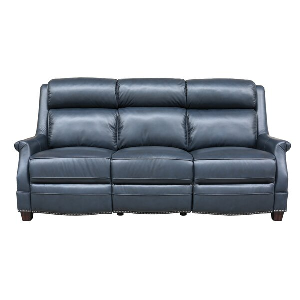 #2 Cheadle Leather Reclining Sofa By Orren Ellis Spacial Price
