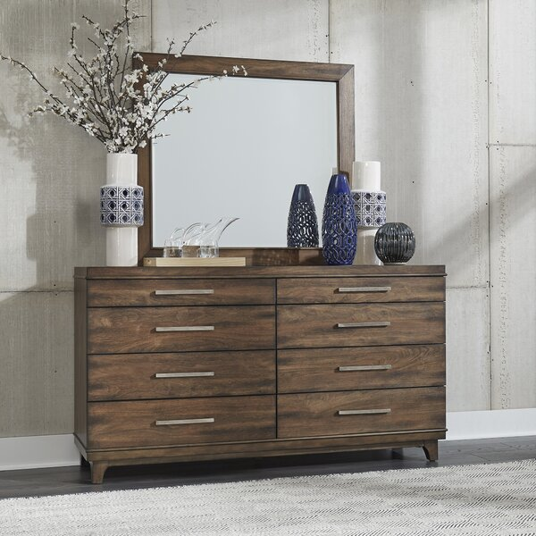 Ventura Boulevard 8 Drawer Double Dresser with Mirror by Brayden Studio