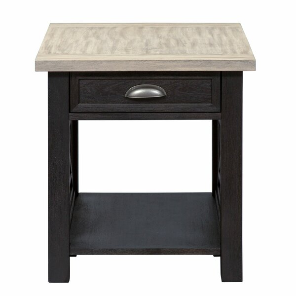 Upton Cheyney End Table with Storage by Darby Home Co Darby Home Co