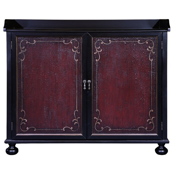 Vega Two Tone Hand Painted Bar Cabinet by Astoria Grand Astoria Grand