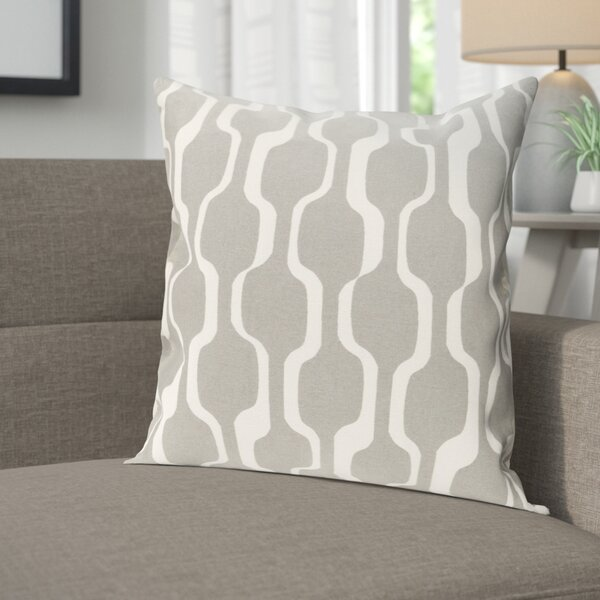 Arsdale Contemporary Cotton Throw Pillow Cover by Langley Street