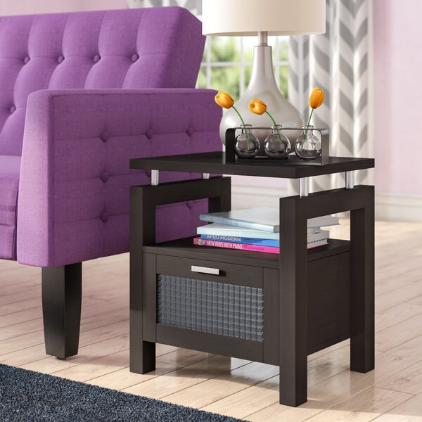Margaret End Table with Storage by Latitude Run
