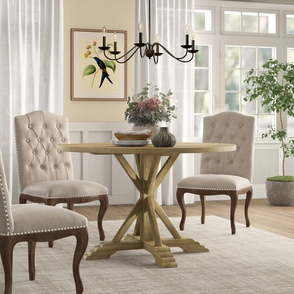 """Hammersley Round Solid Wood Dining Table by Birch Laneâ""""¢ Heritage"""