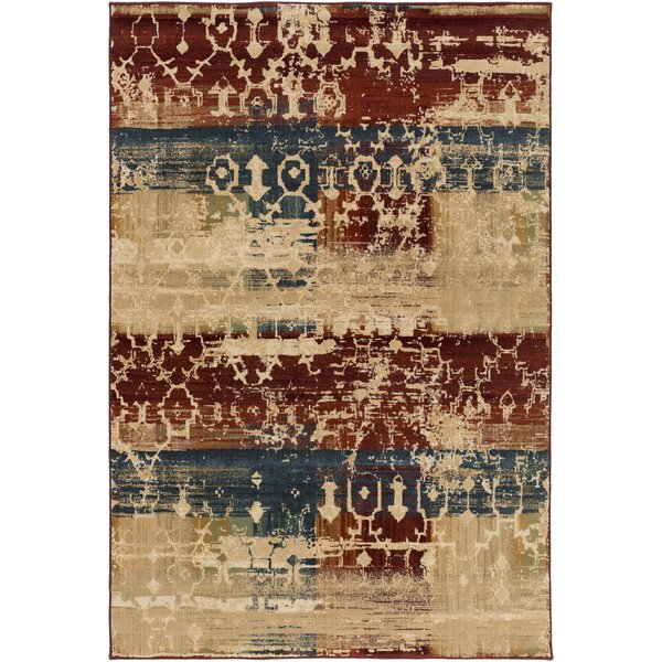 Argentine Olive/ Burgundy Area Rug by Bungalow Rose