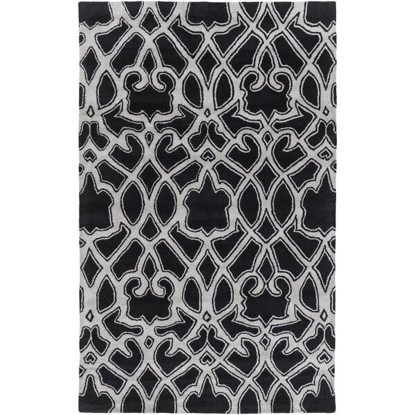Felicia Black/Light Gray Area Rug by Darby Home Co