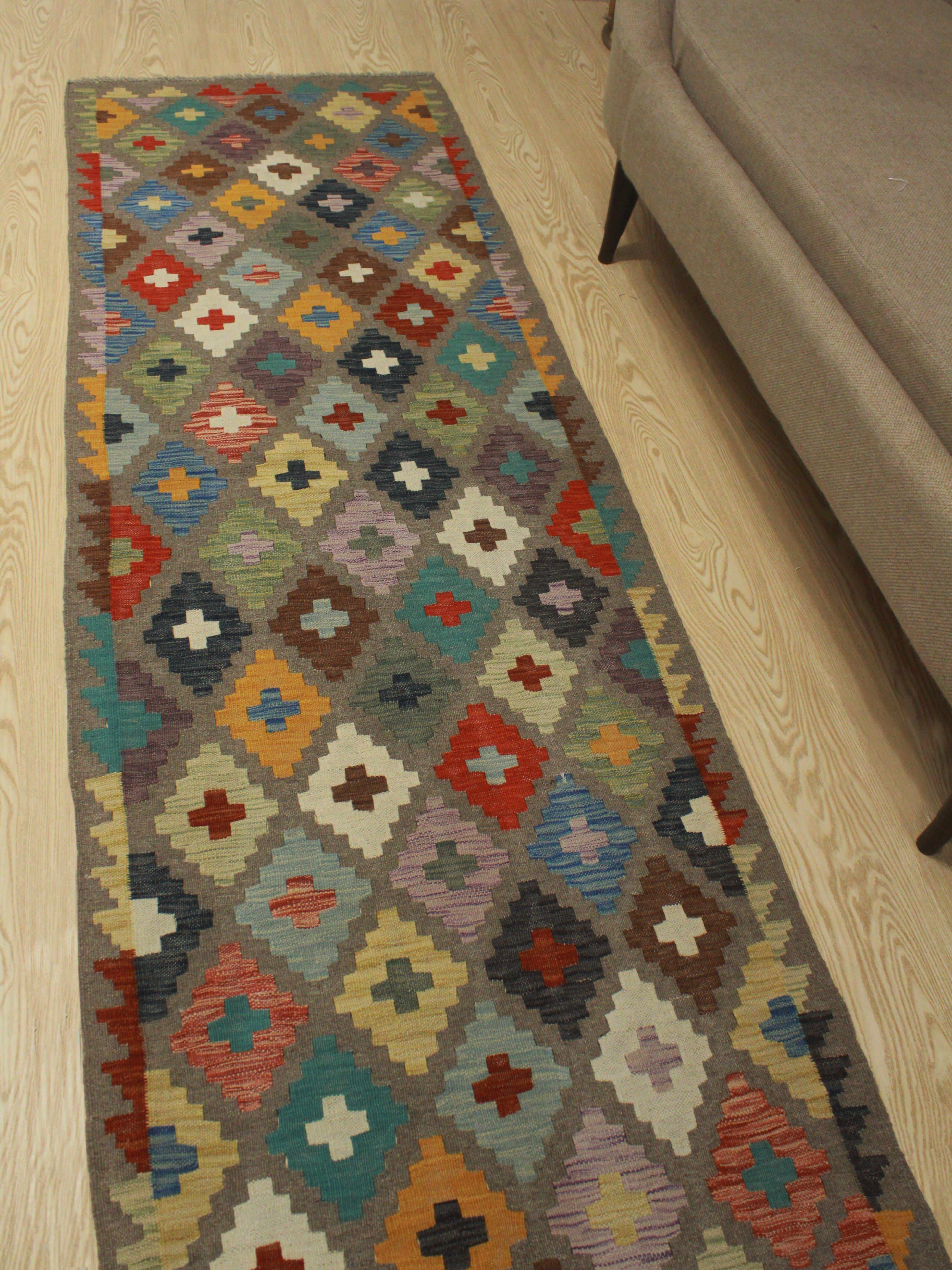 Foundry Select Runner Hults Southwestern Hand Woven Wool Green Brown Orange Area Rug Wayfair