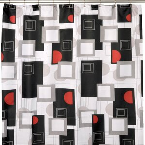 black white red shower curtain.  Red Shower Curtains You ll Love Wayfair