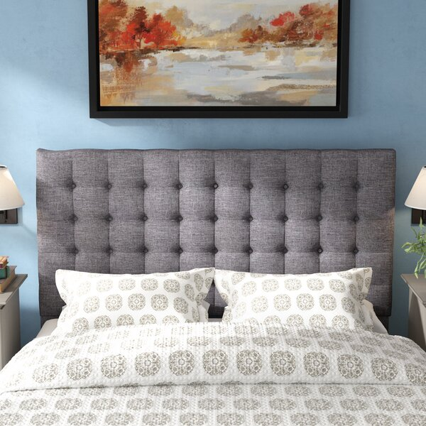 Higham Upholstered Panel Headboard By Three Posts