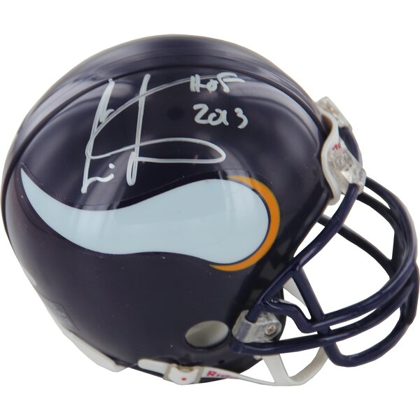 Decorative Cris Carter Vikings Signed Mini Helmet by Steiner Sports