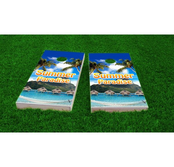 Tropical Paradise Cornhole Game Set by Custom Cornhole Boards