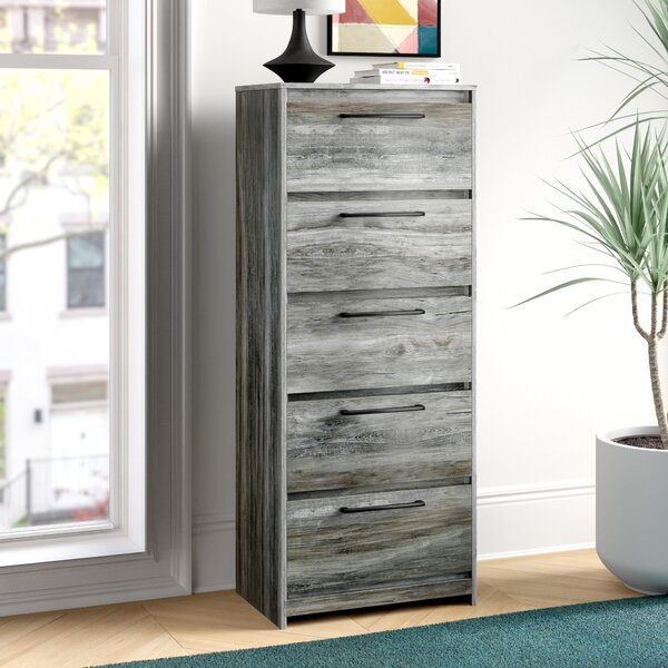 Isa Narrow 5 Drawer Chest by Foundstone