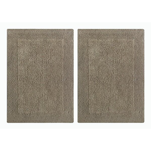 Splendor Reversible Step Out Bath Rug (Set of 2) by Benzara