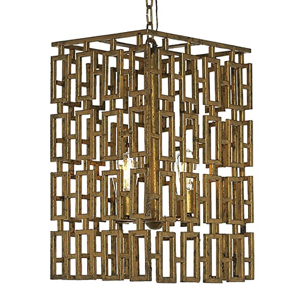 Miami 6-Light Unique / Statement Rectangle / Square Chandelier by ellahome ellahome