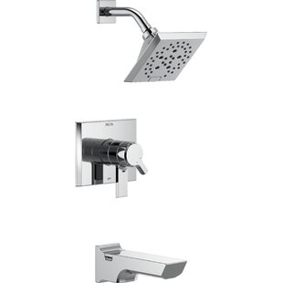 Check Prices Pivotal 17 Series Tub and Shower Faucet Trim with Lever Handles and H2okinetic Technology ByDelta