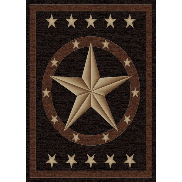 Durango Western Star Brown Area Rug by Loon Peak