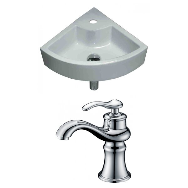 Unique Specialty Ceramic Specialty Vessel Bathroom Sink with Faucet by American Imaginations