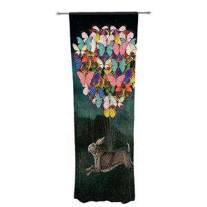 Suzanne Carter Cross Country Decorative Wildlife Sheer Rod Pocket Curtain Panels (Set of 2)