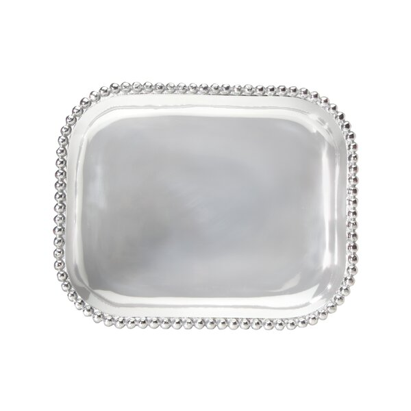 String of Pearls Platter by Mariposa