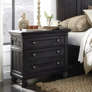 Alona 3 Drawer Nightstand by Gracie Oaks