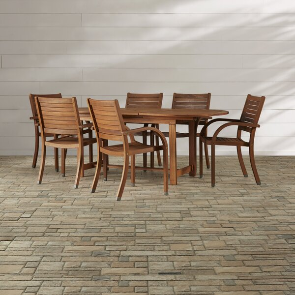 Frye Maryland 7 Piece Dining Set by Beachcrest Home