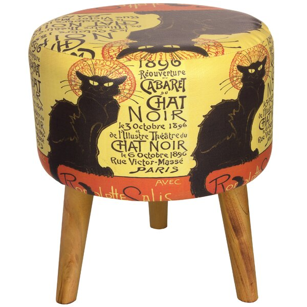 Chat Noir Stool by Oriental Furniture