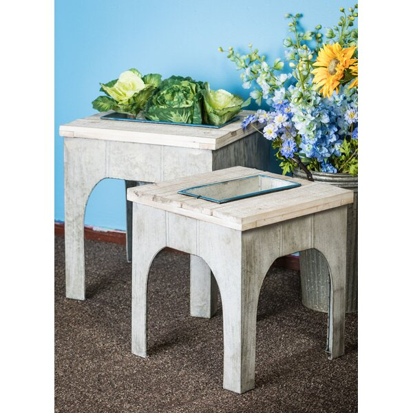Locklin Side Table Wood 2 Piece Planter Box Set by Gracie Oaks