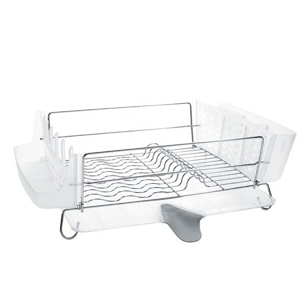 Good Grips Folding Stainless Steel Dish Rack By Oxo.