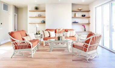 Strachan 4 Piece Seating Group with Cushions by Bay Isle Home