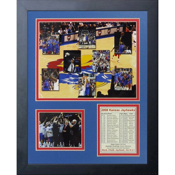 2008 Kansas Jayhawks - Mosaic Framed Memorabilia by Legends Never Die