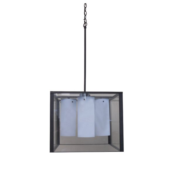 Mandy 4 - Light Shaded Square / Rectangle Chandelier by Whitfield Lighting Whitfield Lighting