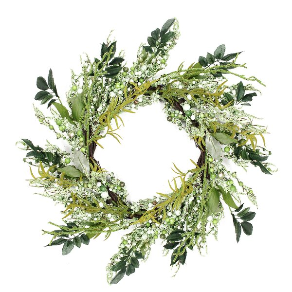 Decorative Mixed Berry Artificial Spring Floral Twig Wreath - Unlit by Northlight Seasonal