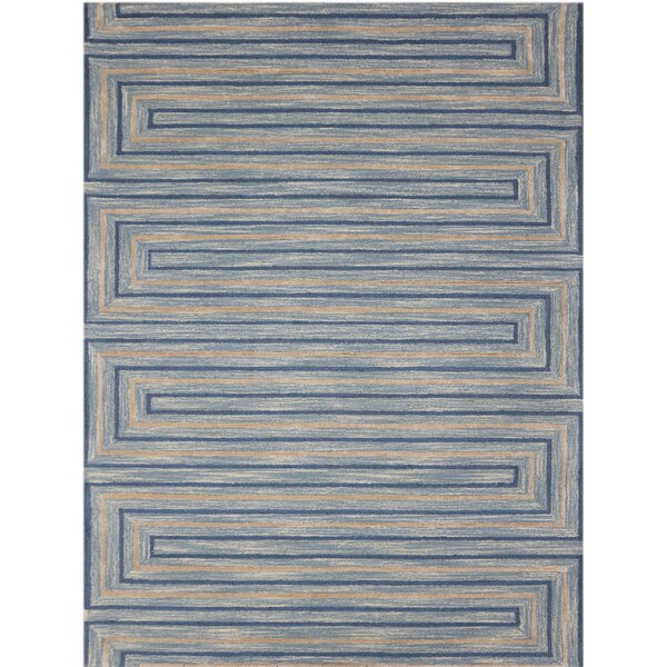 Carcassonne Hand-Tufted Blue Area Rug by Gracie Oaks