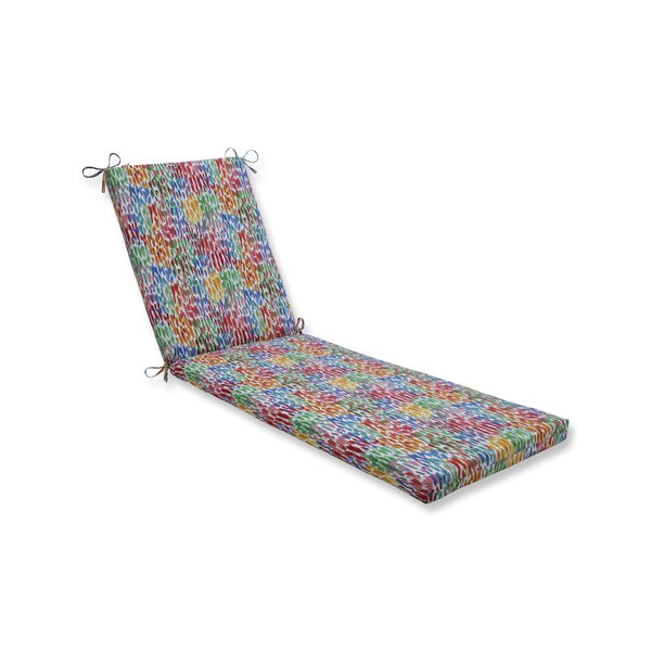 Make It Rain Zinnia Indoor/Outdoor Chaise Lounge Cushion by Wrought Studio