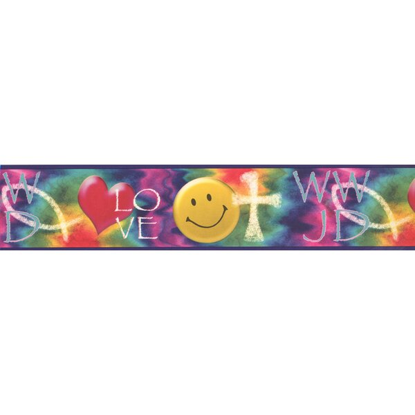 Christiane Smile Love Heart WWJD Religious Wall Border by Red Barrel Studio
