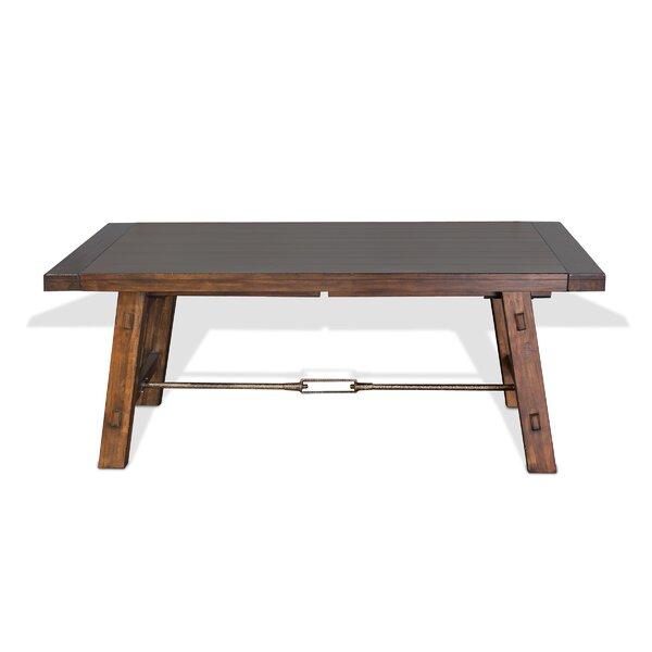 Hardin Extendable Solid Wood Dining Table by Loon Peak Loon Peak