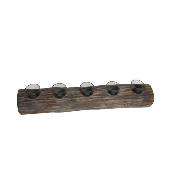 Log Tealight Wood by Millwood Pines
