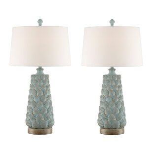 Purchase Harry Seashell 33 Table Lamp (Set of 2) By Beachcrest Home